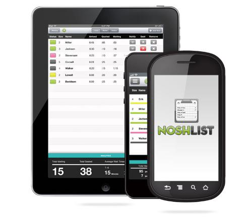 NoshList mobile apps