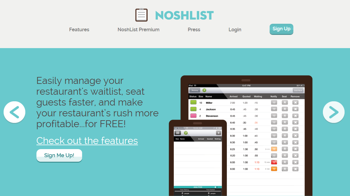 noshlist website